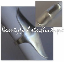 "2"" KNUCKLE ELONGATED FLAT MATTE SILVERTONE RING JEWELRY"