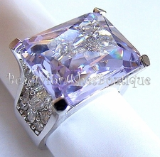 BEAUTY FOR ASHES BOUTIQUE LAVENDER ICE CLEAR CZ RING