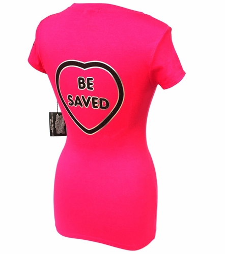 Beauty for Ashes Choose Jesus Be Saved Hot Pink T-Shirt