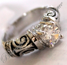 BEAUTY FOR ASHES FILIGREE CLEAR CZ EXPECTANCY RING