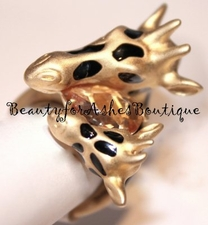 BEAUTY FOR ASHES MOM and BABY CRYSTAL ANIMAL GIFAFFE RING