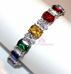 Beauty for Ashes Sapphire CZ Arm Candy Rainbow Bracelet