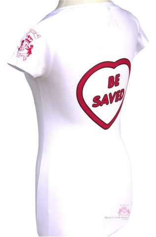 White Pink Choose Jesus Be Saved Short Sleeve T Shirt