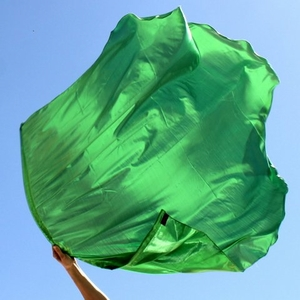 Bright Green Healing for the Nations Worship Flag Set of 2 (Flexible Rod)