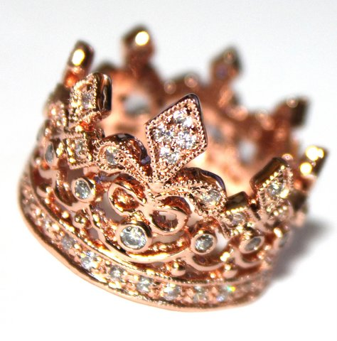 Rose Gold Crown Of Life Ring Beauty For Ashes Boutique