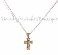 Gold Plated Cz Cross Necklace
