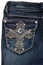 Grace in LA Denim Jeans Skinny Fit Cross Pocket K8327N