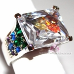 Love Beauty for Ashes Rainbow in the Sky Geometric Chunky Ring