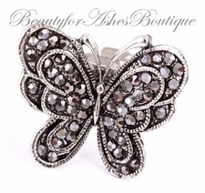 METAMORPH MARCASITE BUTTERFLY RING