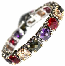 Multicolor Cubic Zirconia Throne Room Bracelet