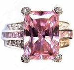 Tabernacle Pink Cubic Zirconia Ring