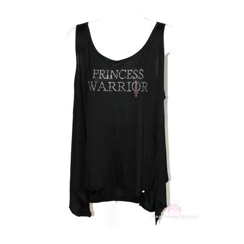 Plus Size Princess Warrior Pink Sword Black Handkerchief Style Tank Top