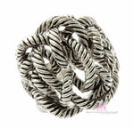 Rope Antique Plated Twisted Knot Ring
