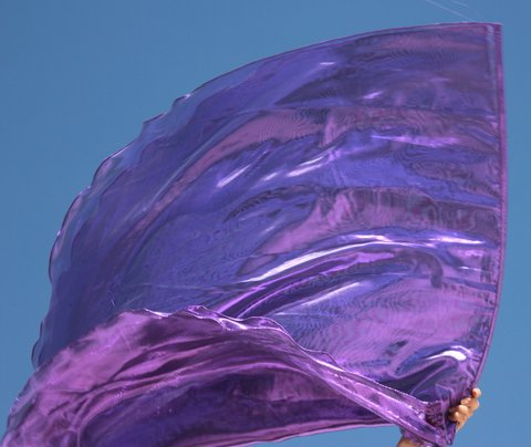 Royalty Amethyst Purple Worship Flags with Flex Set of 2