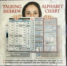 Talking Hebrew Alphabet Chart CD Disc