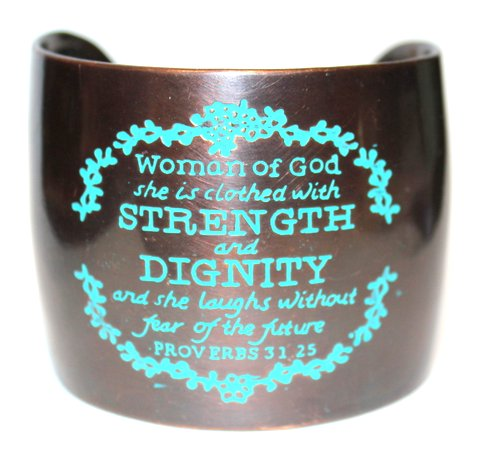 Woman of God Clothed with Strength and Dignity Cuff Bracelet