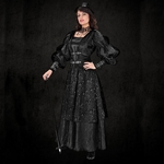 Empire Woman's Steampunk Gown