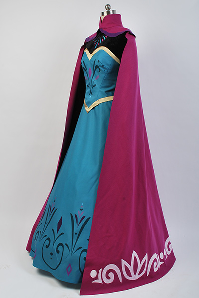 Frozen Elsa Coronation Dress With Cloak