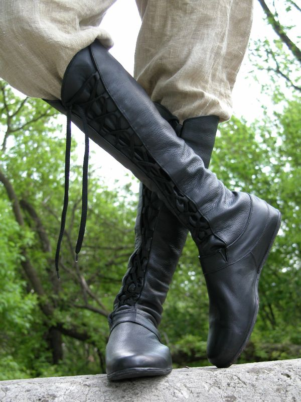 Medieval High Boot Forest Authentic Renaissance Clothing