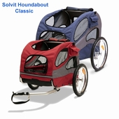 Solvit Houndabout Classic Dog Bicycle Trailer
