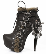 Hades Adler 6 Inch SteamPunk Ankle Boot