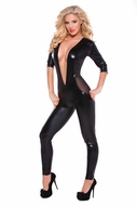 Allure 10-1052K Wetlook & Mesh Catsuit