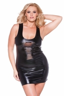 Allure 17-1082XK Plus Size Risque Kitten Dress