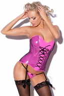Allure Leather 11-4407 Pink Vinyl Corset