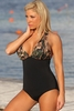 Army Brat Halter Swimsuit