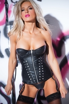 Allure 11-1402 Biker Babe Faux Leather Studded Corset
