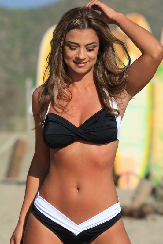 And White Shaper Bikini