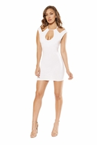 Clubwear Partially Lined Dress with Cutout Panels