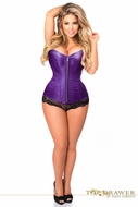Daisy TD-803 Top Drawer Purple Brocade Steel Boned Corset Size 5X