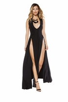 Dancewear Maxi Length Dress with Front Slits