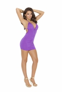 Deep V Mini Dress 8254