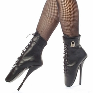 Pleaser Footwear  Devious Ballet-1025 Spiked Ankle Boots