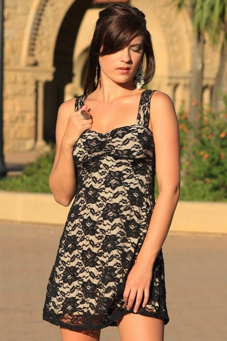 French Lace Mini Dress
