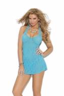 Lace Halter Mini Dress 1422
