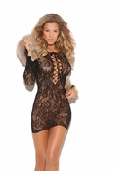 Long sleeve lace mini dress with lace up front  8799