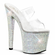 "Pleaser Bejeweled-752DM 7"" Bling Dancer Shoe"
