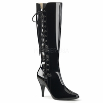 Pleaser Dream-2026 Side Lace Knee Boot