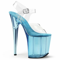 Pleaser Flamingo-808T Tinted Ankle Strap Sandal