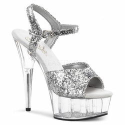 Pleaser Delight-609 Stiletto Heel Ankle Strap Sandal