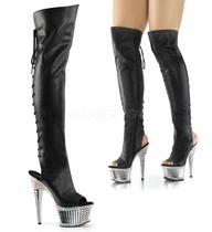 Pleaser ILLUSION-3019RS Thigh High Boot With R/S