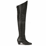 Pleaser MAIDEN-8828 Thigh Hi Pig Leg Leather Boot Size 8