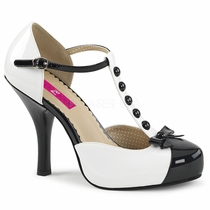 Pleaser Pinup-02 T-Strap Pump W/Bow