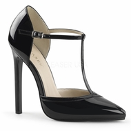 Pleaser SEXY-27 T- Strap d'Orsay Pointed Toe Pump