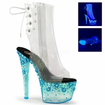 Pleaser Sky-1018UVMG Ankle Boots