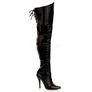 Plus Size Pleaser Legend-8899 Thigh High Boots at Sincity Playwear