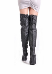 Pleaser Legend-8899 Wider Shaft Thigh High Boots